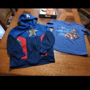 Boys 2pc Avengers hoodie set size 7